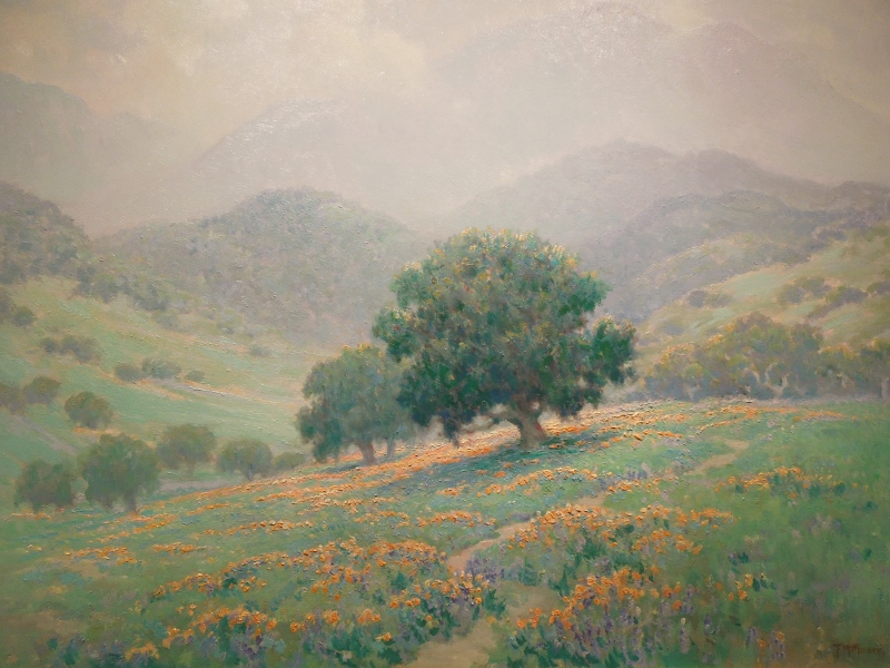 Poppies and Lupines by Frank Moore (1877-1967), The Irvine Museum