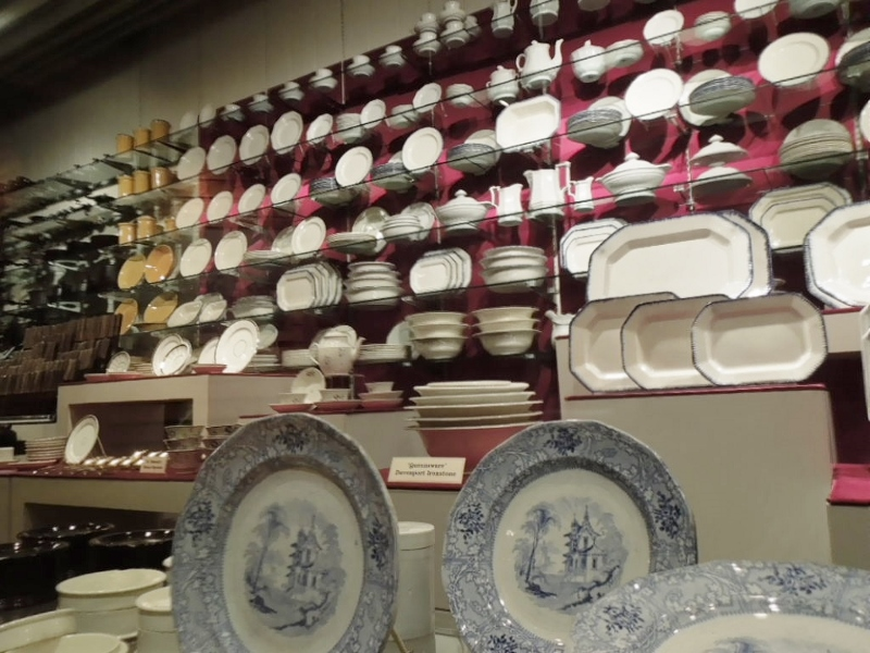 About 20% were luxury items, like the Davenport Ironstone in the foreground.