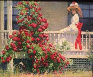 """The Crimson Rambler,"" ca. 1908, by Philip Leslie Hale"