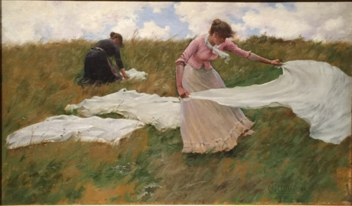 """A Breezy Day,"" 1887. Charles Courtney Curran."